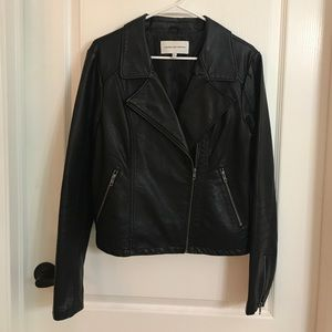 Cupcakes and Cashmere Leather Jacket // Size L
